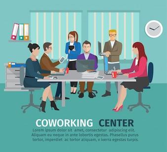 Concept de centre de coworking