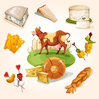 Concept de fromage naturel