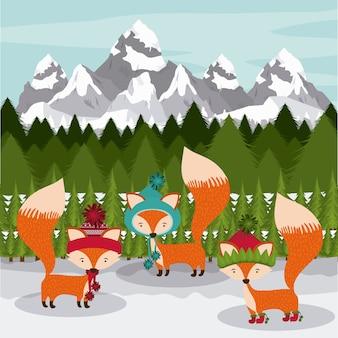 Concept de Noël joyeux avec animal mignon