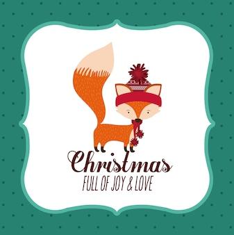 Concept de Noël joyeux avec des icônes de décoration