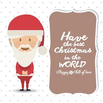 Concept de Noël joyeux avec design d'icônes de décoration
