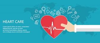 Concept de soins cardiaques