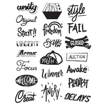 Concept de Style illustration Illustration typographique