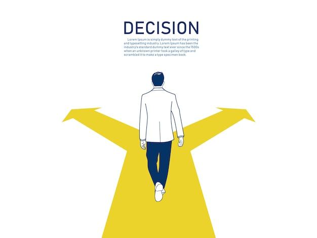 Concept de décision d'affaires.