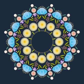 Concept de décoration florale onam