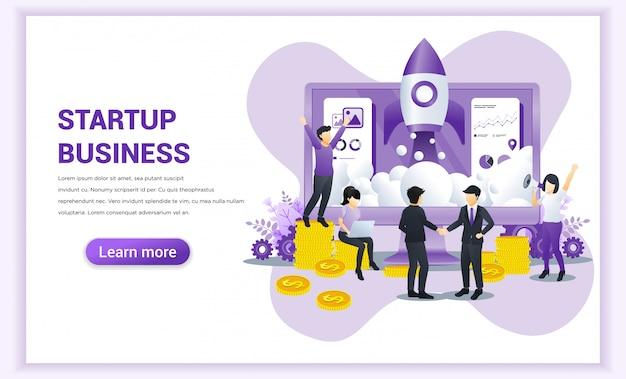 Le concept de démarrage d'entreprise avec des hommes d'affaires est parvenu à un accord et a conclu l'accord en se serrant la main.