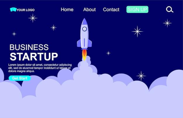Concept de démarrage d'entreprise pour le modèle de page web