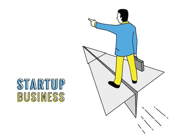 Concept de démarrage d'homme d'affaires