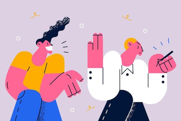 Concept de dépendance au téléphone et d'émotions faciales