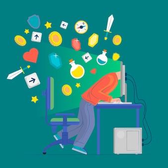 Concept de dépendance aux jeux en ligne