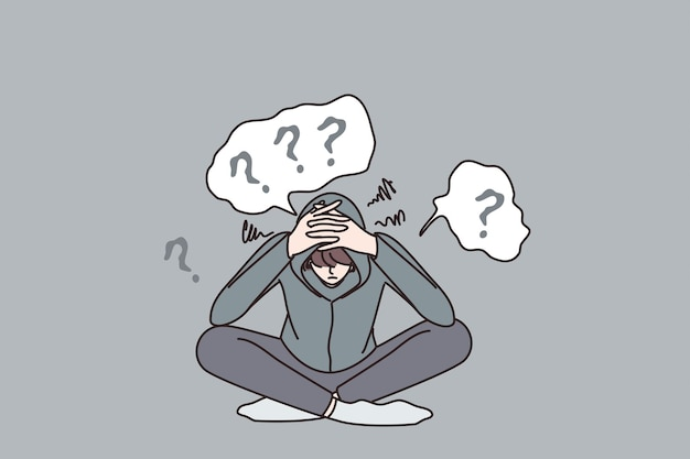 Concept de dépression et de troubles mentaux