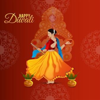 Concept de design et arrière-plan créatif joyeux diwali