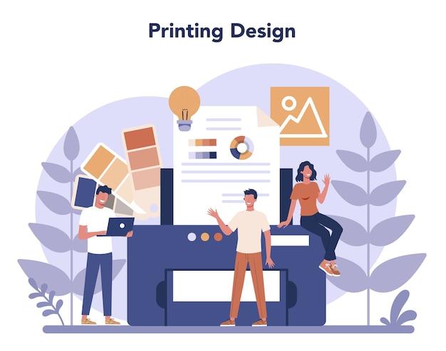 Concept de design au design plat