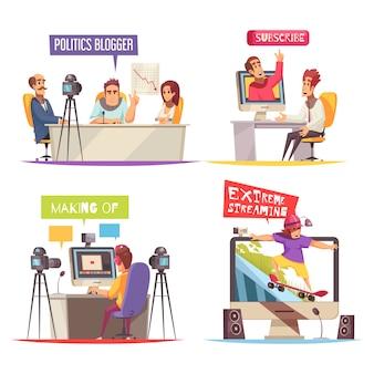 Concept de design de blog créatif