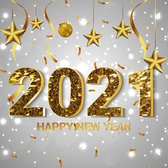 Concept de design de carte de nouvel an