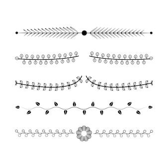 Concept de design de collection d'ornements