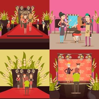 Concept de design de défilé de mode