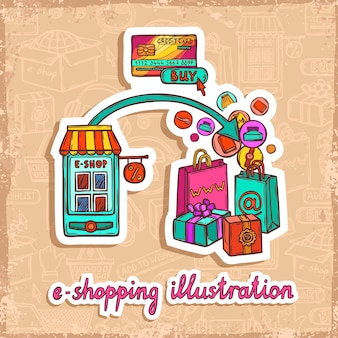 Concept de design e-commerce