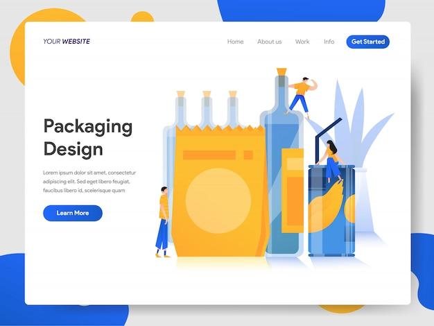 Concept de design d'emballage