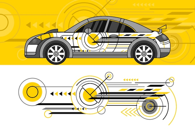 Concept de design d'enveloppe de voiture