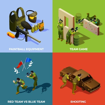 Concept de design de l'équipe de paintball