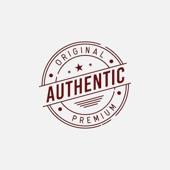 Concept de design d'étiquette d'insigne authentique