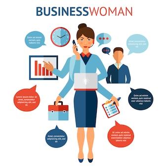 Concept de design de femme d'affaires