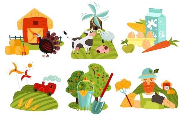 Concept de design de ferme