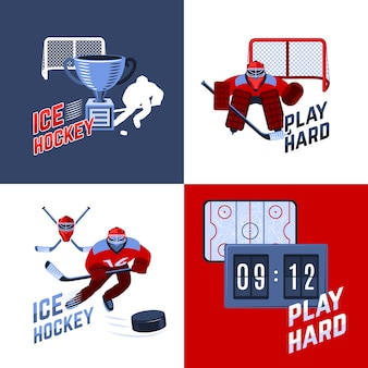 Concept de design de hockey