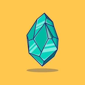 Concept de design d'illustration vectorielle de pierre précieuse bleue premium