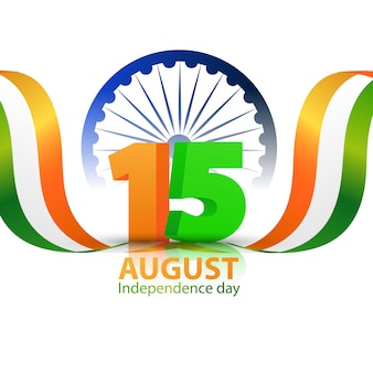 Concept design independence day india graphics. voeux célébration