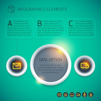 Concept de design infographique