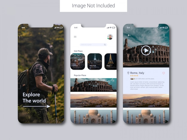 Concept de design d'interface utilisateur mobile