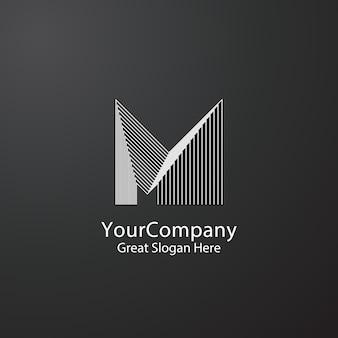 Concept de design de lettre m logo pour entreprise