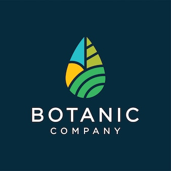 Concept de design de logo botanique
