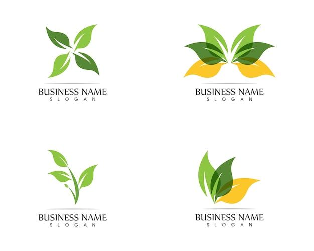 Concept de design de logo feuille nature