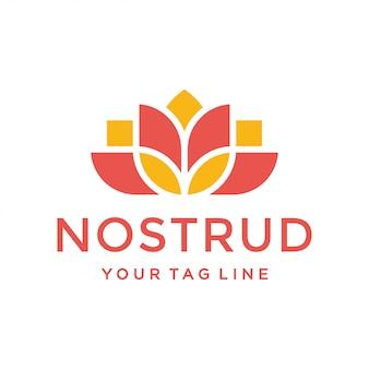 Concept de design de logo lotus. design floral universel.
