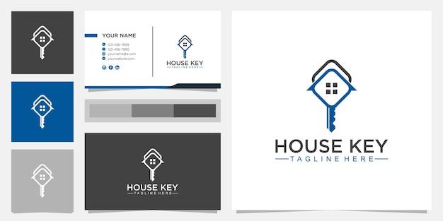 Concept de design de logo maison clé, modèle de logo business real estate.