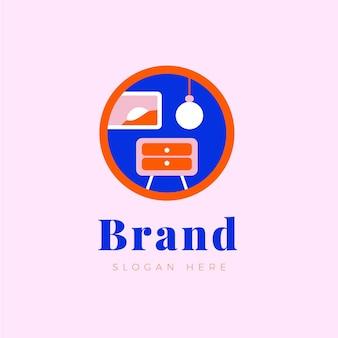 Concept de design de logo de meubles