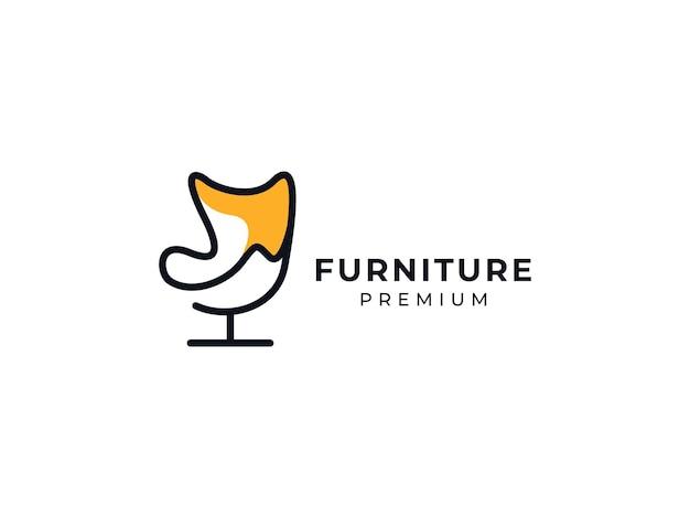 Concept de design de logo premium de meubles