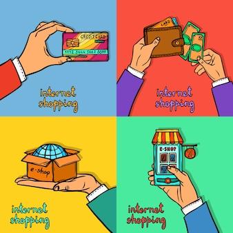 Concept de design de magasinage en ligne