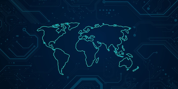Concept de design moderne de technologie de carte du monde. fond de texture abstraite