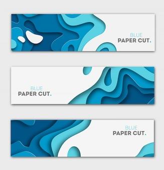 Concept de design en papier découpé pour les arrière-plans