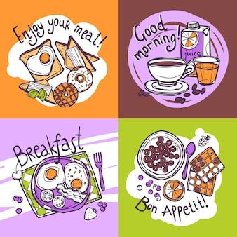 Concept de design de petit déjeuner