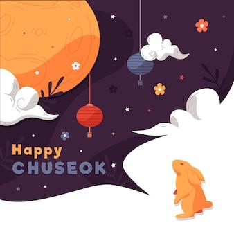 Concept de design plat chuseok