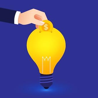 Concept de design plat créer une grande idée