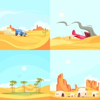 Concept de design plat désert