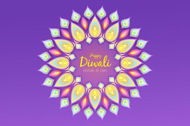 Concept de design plat diwali