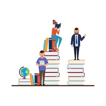 Concept de design plat de l'éducation
