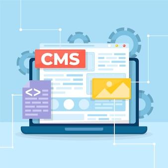 Concept de design plat illustration cms
